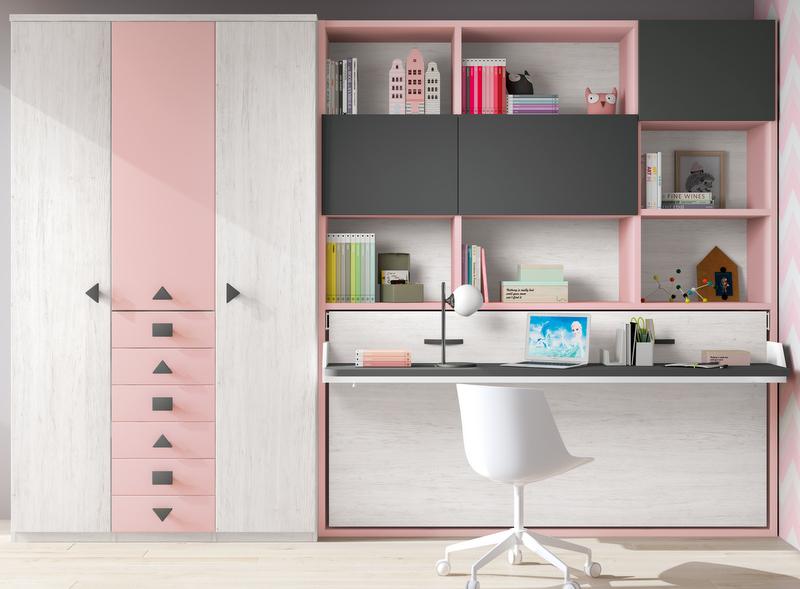 Camas abatibles dormitorios juveniles baratos muebles for Muebles juveniles baratos