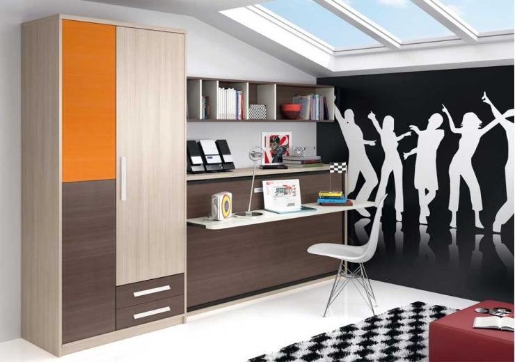 Camas abatibles muebles juveniles dormitorios juveniles for Muebles juveniles abatibles