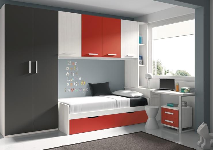 Nidos muebles juveniles dormitorios juveniles - Habitacion con cama nido ...